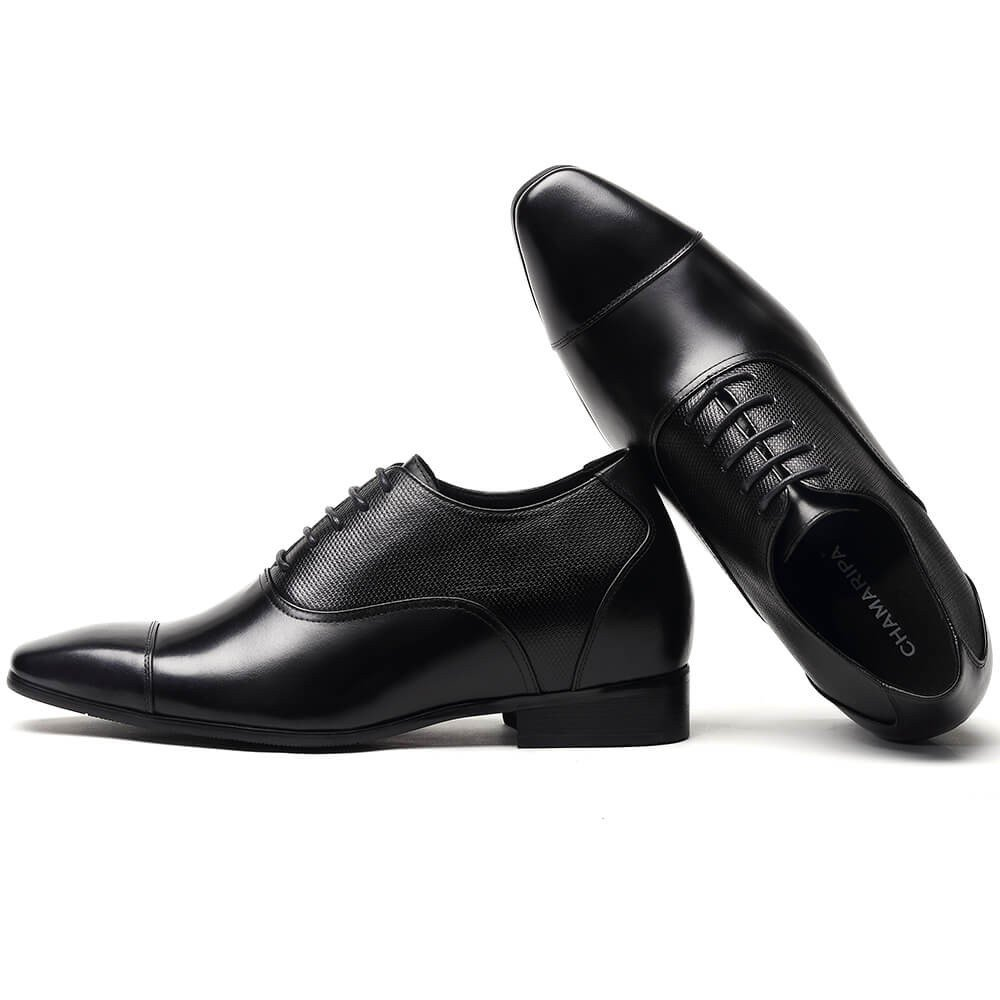 CHAMARIPA Height Increasing Elevator Shoes 2.96'' Taller Men Tuxedo Dress Oxford Shoes K4022 10 D(M) US by CHAMARIPA (Image #4)