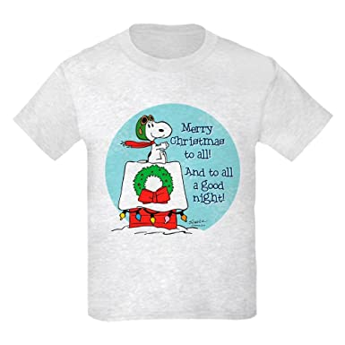 3debd3f1 CafePress Snoopy: Merry Christmas to All Kids T-Shirt: Amazon.co.uk:  Clothing
