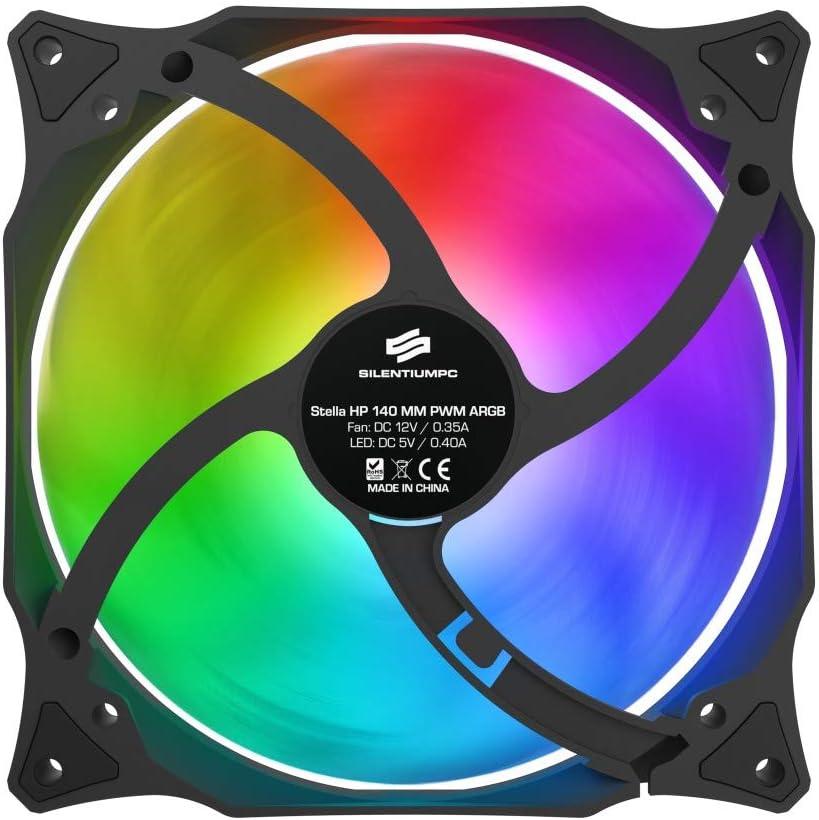 SilentiumPC Stella HP PWM Ventilador de PC (140 mm, ARGB): Amazon ...