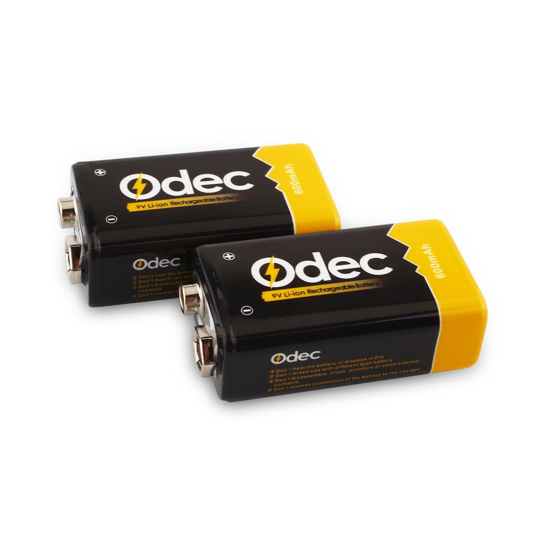 Odec 9V 600mAh Li ion Akku Leistungsstarke Lithium ion Batterien 9V Packung von 4 Amazon Elektronik