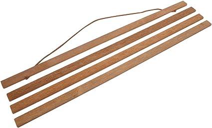 Enhangced magnetic wooden photo frame poster scroll artwork fabric hanger diy 1