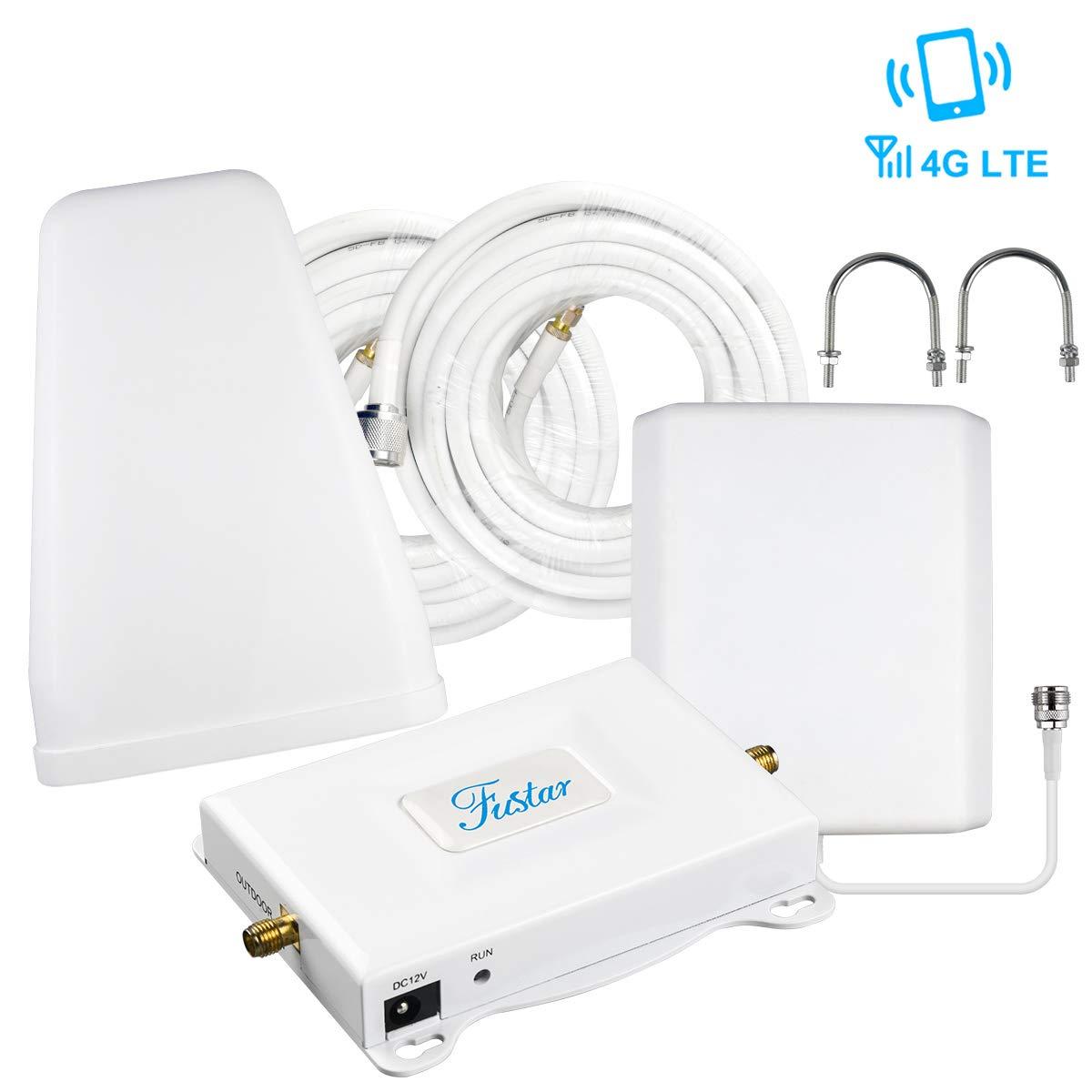 Verizon Cell Phone Signal Booster, Verizon Signal Booster - 4G LTE 700mhz Band 13 Verizon Booster,Cell Phone Amplifier Network Extender - 65dB 5000sq.ft,Stronger Gain Reception Antenna Pannel+LPDA by FUSTAR