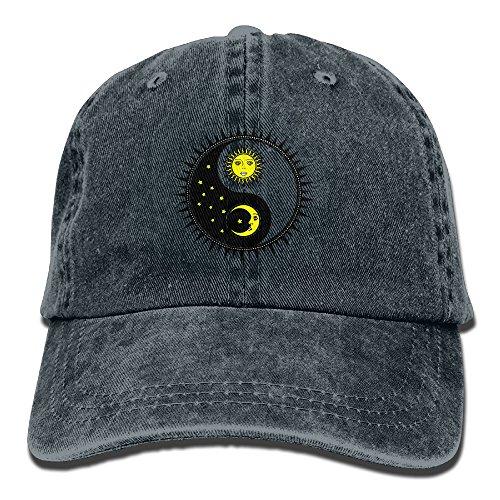 Cap Headgear Denim (Sun Moon Adult Denim Hat For Boy Female Unisex,Boys Girls Cap)