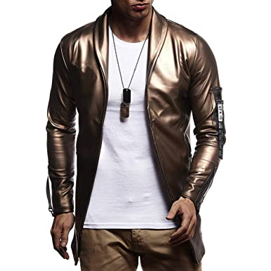 size 40 06691 0d121 FRAUIT Jacke Luxus Herren Männer Hip Hop Ledermantel ...