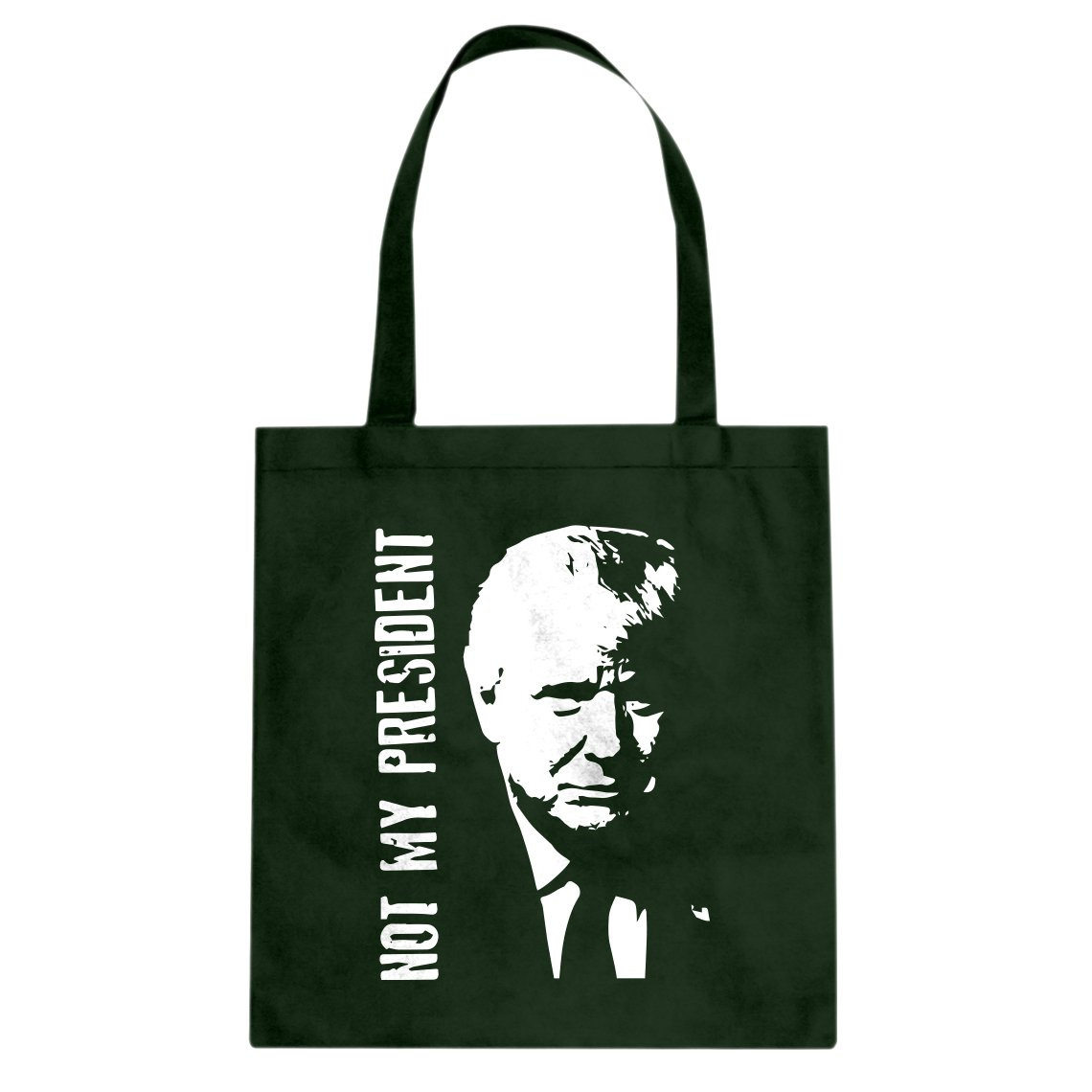 Indica Plateau Not My President Donald Trump Cotton Canvas Tote Bag