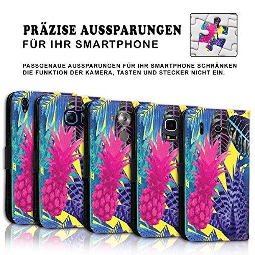 Wallet Book Style Flip Handy Tasche Case Schutz Hülle Schale Motiv Etui für Apple iPhone 5 / 5S - Design Flip MVD116