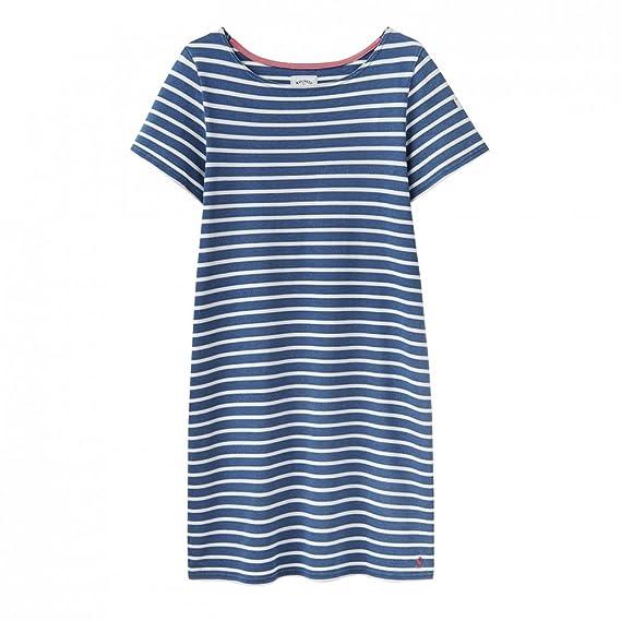 Joules Riviera Short Sleeve Jersey Womens Dress (Y) Saltwash UK6 EU34 US2