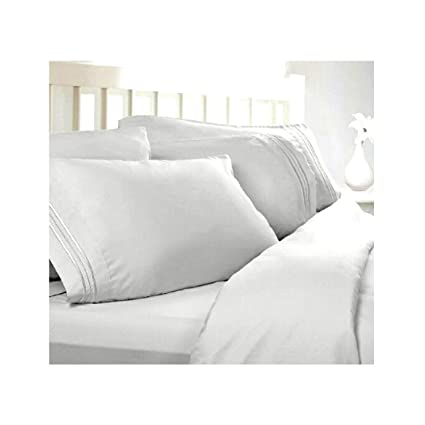 Twin XL Extra Long Sheets: White, 1800 Thread Count Egyptian Bed Sheets,  Deep