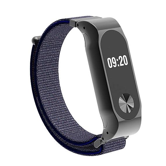 Hombre Mujer Reloj Correa Deportiva De Nylon Ajustable con Banda De Reemplazo Ajustable para Xiaomi Mi