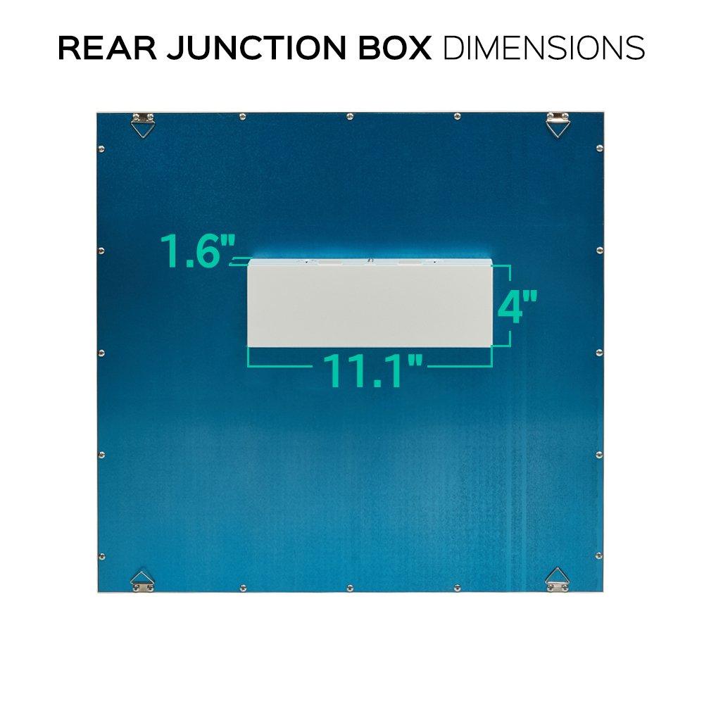 Luxrite LED Light Panel, 2x2 FT, 45W, 3000K Soft White, 4850 Lumens ...