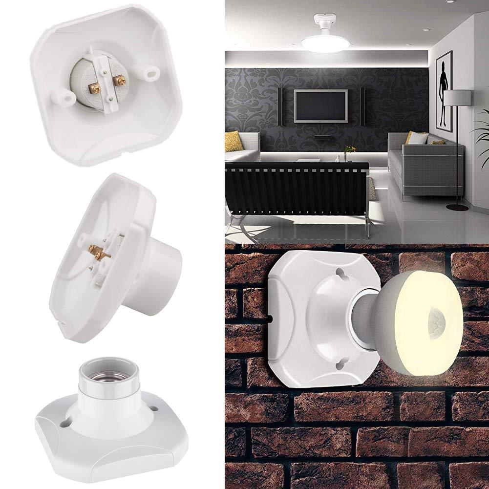Wei/ß BETOY Lampenfassung E27 Kunststoff und Porzellan F/ür Lampe Halter 4 Pack Wand-Fassung Elektra Decken-Fassung,eckig