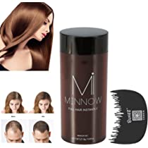 Tratamiento para Cabello Crecimiento Fibras de Pelo disimular caída de cabello construcción del cabello Polvos Calvicie Corrector Engrosante con Peine ...