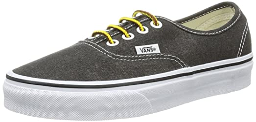 Vans Unisex Authentic? (Washed) Black Men's 3.5, Women's 5 Medium