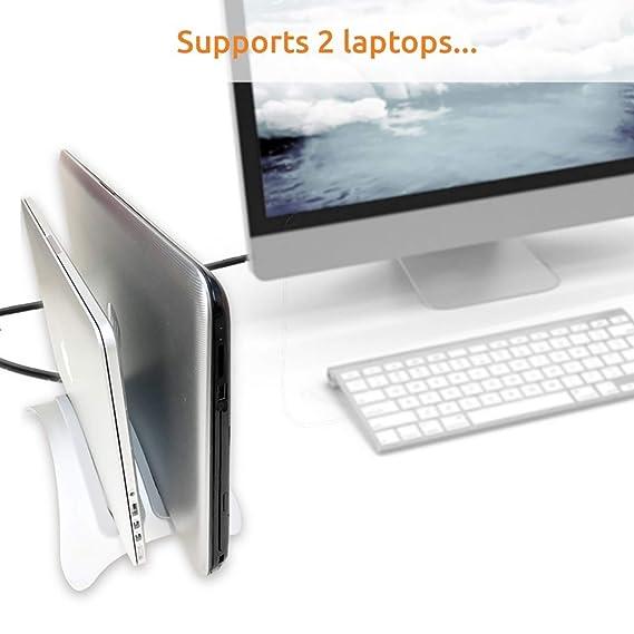 Urbo Twin-Seater Soporte Vertical de Laptop para Acomodar Computadoras Portátiles y Tabletas de Diferentes Tamaños (¡Porque Obviamente Tienes Más de un ...