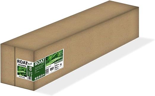 ROAT R6105050 – Rollo de papel inkjet de 80 gr, 610 mm x 50 mtrs, extra blanco, para todo tipo de plotters, 4 uds/caja: Amazon.es: Oficina y papelería