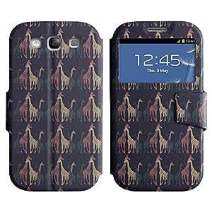 LEOCASE jirafa fresca Funda Carcasa Cuero Tapa Case Para Samsung Galaxy S3 I9300 No.1005671