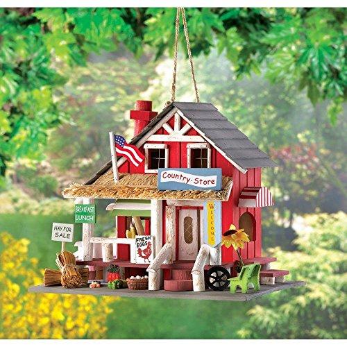 House Sparrow Nest Box (Chickadee Birdhouse, Wooden Bird Houses, Outdoor Hanging Bird Nest For Sparrow)