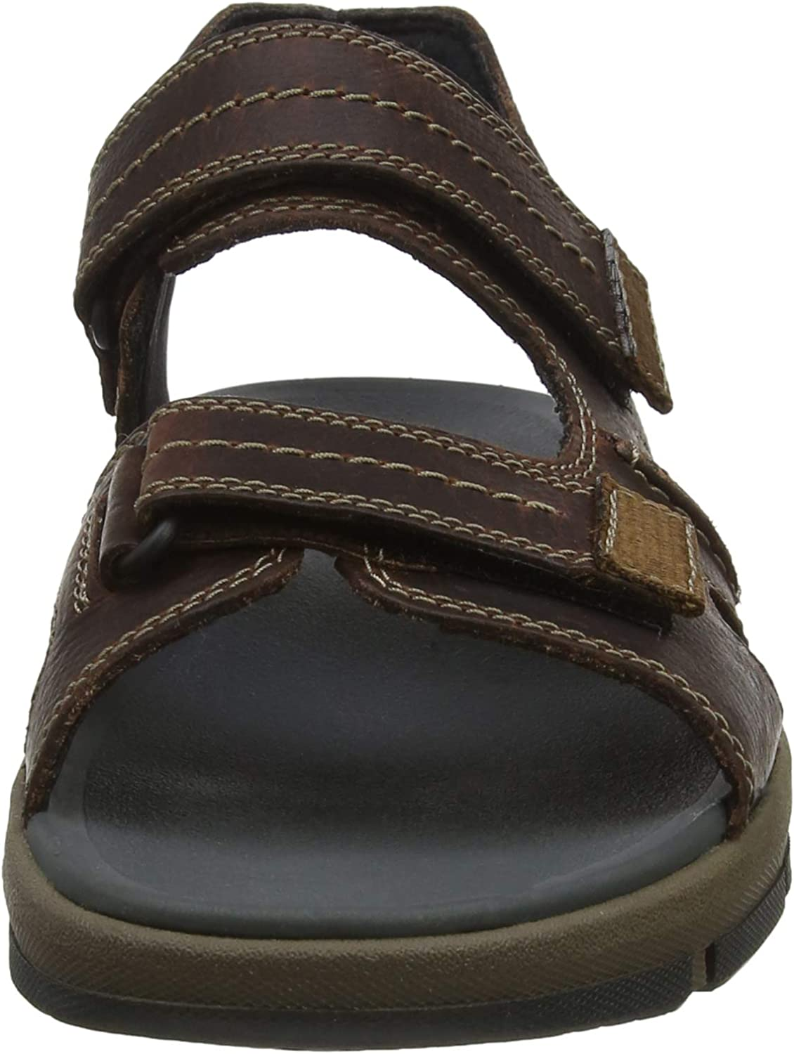 Clarks Herren UnBryman Part Sandalen, Braun (Brown Leather