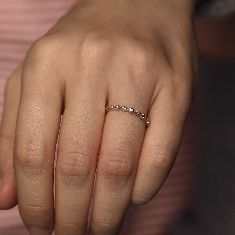 Amazon Com Diamond Wedding Band Art Deco All Around Diamond