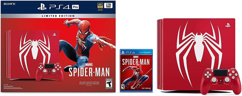 Playstation 4 Pro 2TB SSD Limited Edition Consola – Marvels Spider-Man Bundle mejorado con unidad de estado sólido rápido: Sony Interactive Entertainment LLC: Amazon.es: Electrónica