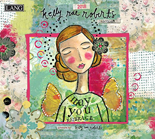 "LANG - 2018 Wall Calendar - ""Kelly Rae Roberts"" - Artwork By Kelly Rae Roberts - 12 Month - Open, 13 3/8"" X 24"""
