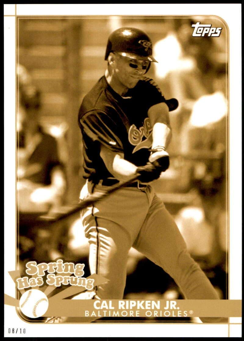 Baseball MLB 2020 Topps Opening Day Spring has Sprung 5x7 Gold #SHS-9 Cal Ripken Jr. /10 Orioles