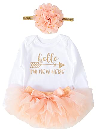 1bc680d040b8 Amazon.com  OoSweetCharlotteoO Newborn Baby Girl Coming Home Outfit ...
