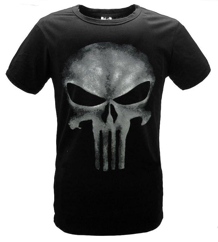 FUMAN The Punisher Skull Logo Herren Kult T-Shirt Schwarz Sleeveles
