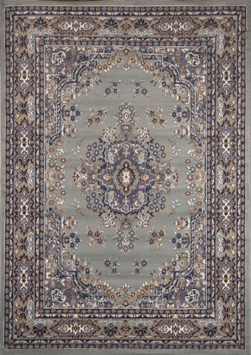Home Dynamix 5-7069-453 Premium Polypropylene Area Rug, 21 by 35-Inch, Silver