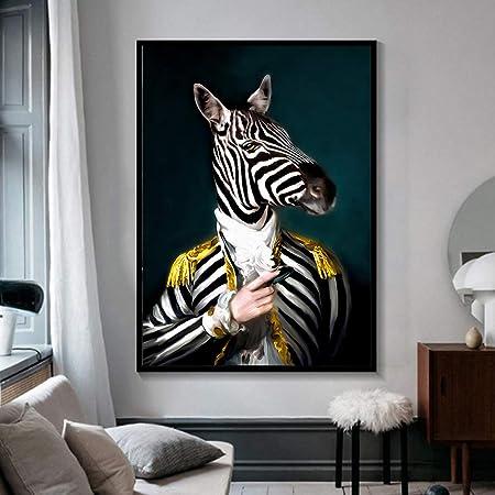 RTCKF Caballo Pared Arte Cartel Jirafa Animal Elegante ...