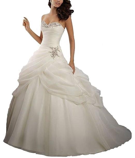 Ebelz Novia vestido de novia de invierno balón vestido de novia de la Mujer