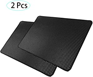 Car Anti-Slip mat 2 Pack, Heat Resistant Non-Slip Mats, Dashboard Non-Slip pad (27x 15 cm), Slide Proof, for Phone Keys Coins Holder,When Dusty, Wash and Reuse as New