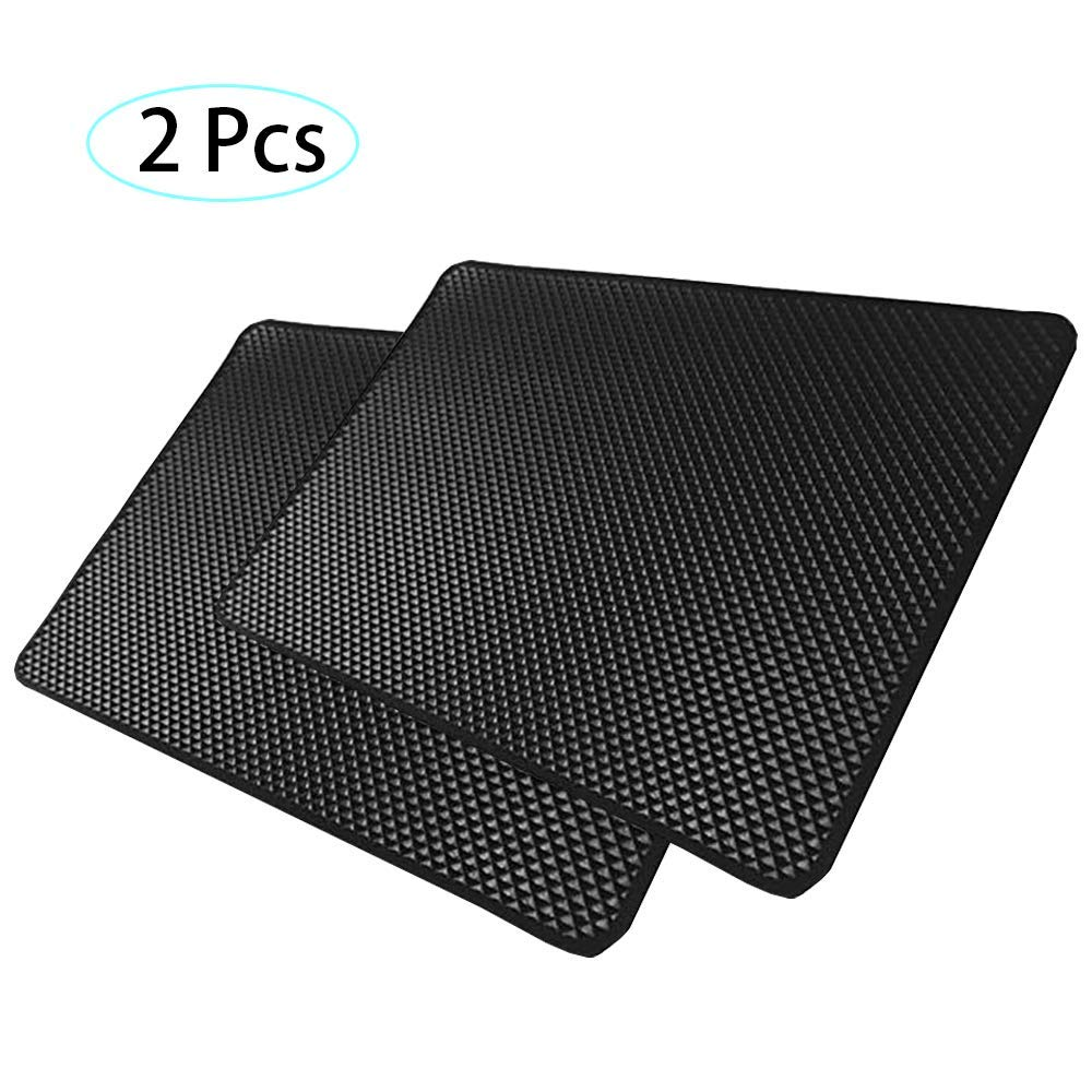 Wash and Reuse as New 27x 15 cm Car Anti-Slip mat 2 Pack Dashboard Non-Slip pad Slide Proof Heat Resistant Non-Slip Mats for Phone Keys Coins Holder,When Dusty
