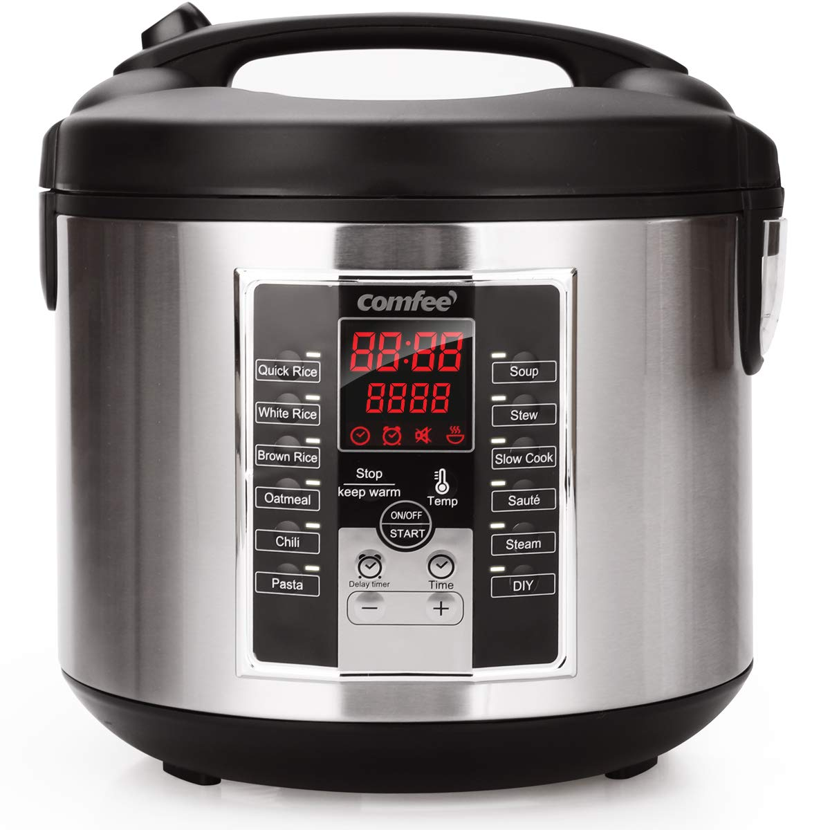 Rice Cooker, 6-in-1 Electric Hot Pots,Slow Cooker, Sauté, stew pot,soup pot,Steamer, Food Warmer 650W by Comfee Sauté COMFEE' MB-M25
