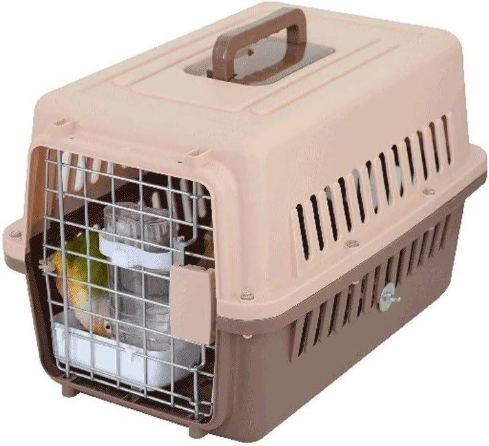 Jaulas para pájaros Jaula de pájaros Jaula de Viajes Jaula de Transporte portátil Transporte de ventilación Respirable con Caja de Alimentos y Bebedero