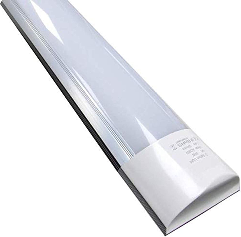 Luminaria Pantalla Lampara LED 150cm 48w. Color Blanco Frio (6500K). Tubo integrado T8 equivalente a 2 tubos fluorescentes de 52w. Regleta led slim. A++