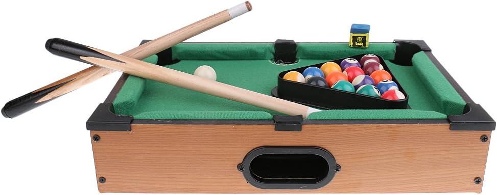 Toygogo Juego De Mesa De Billar En Miniatura con Bolas De Billar Cue Sticks Tabletop Juegos De Juguetes para Niños: Amazon.es: Deportes y aire libre