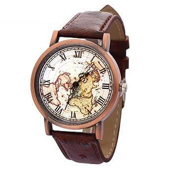 Buy xinew retro world map analog multi colour dial unisex watch xinew retro world map analog multi colour dial unisex watch xin 314 gumiabroncs Gallery