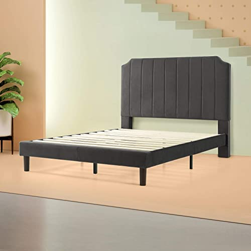 Zinus Charlotte Upholstered Platform Bed, Queen