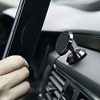 Soporte Magnético para Auto, 360 °Tablero de Instrumentos Ajustable Soporte de Coche para Celular como iPhone XS XR X 8 8 Plus 7 7 Plus, Samsung S7 S8, HTC, Motorola, Xiaomi, Huawei, LG, Oneplus, Negro