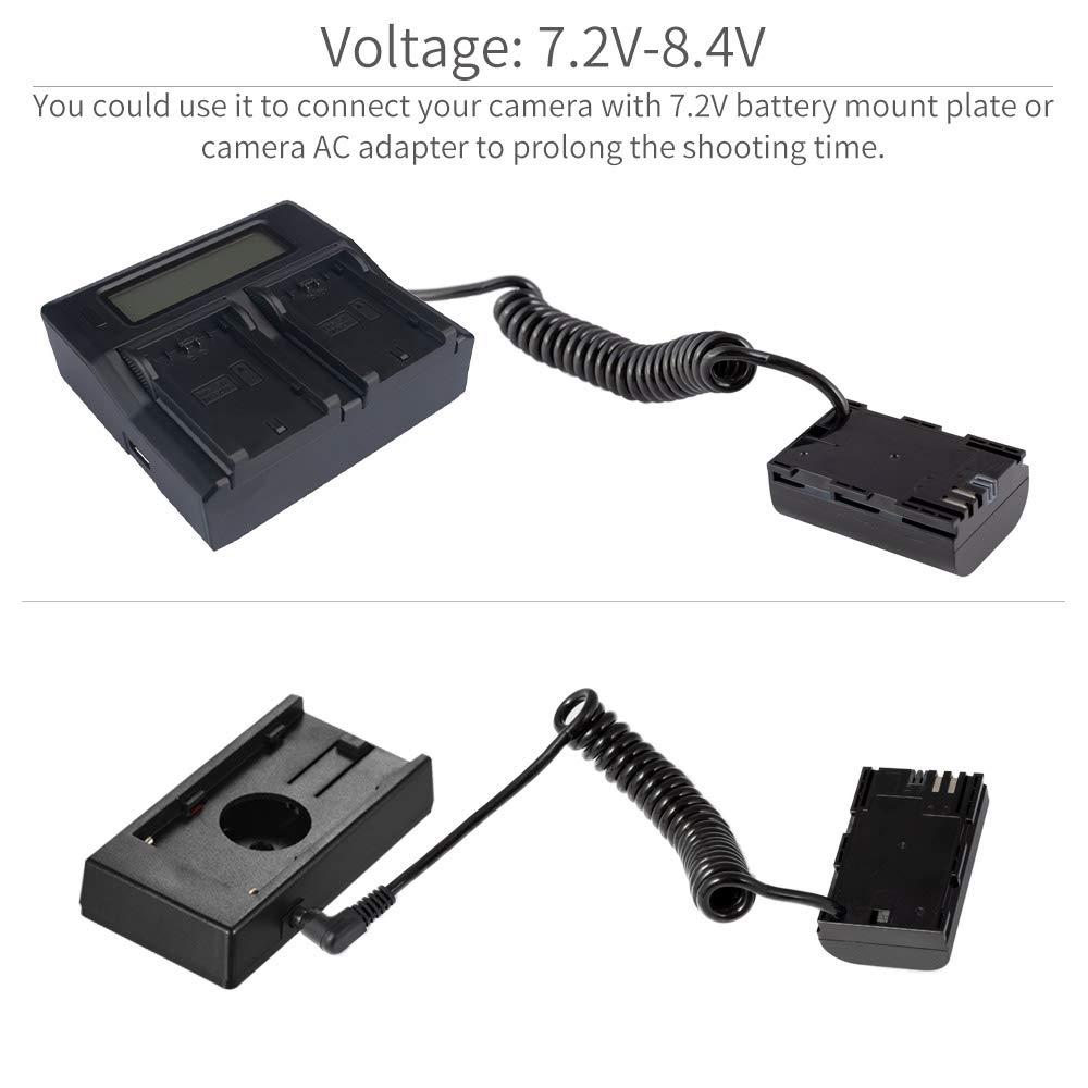 Feelworld Adaptador de Corriente para C/ámara Monitor F450 F550 F570 FW759 FW760 FH7 T7 FW703 12V//1.5 A-Inclu/ído 2 Normas
