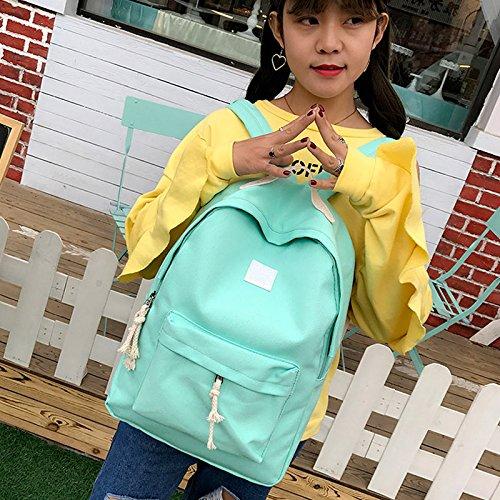Espeedy Bolsas De Escuela Mochila,Moda Mujeres Adolescente Niñas Mochila Lienzo Cute Mochila Niños verde claro
