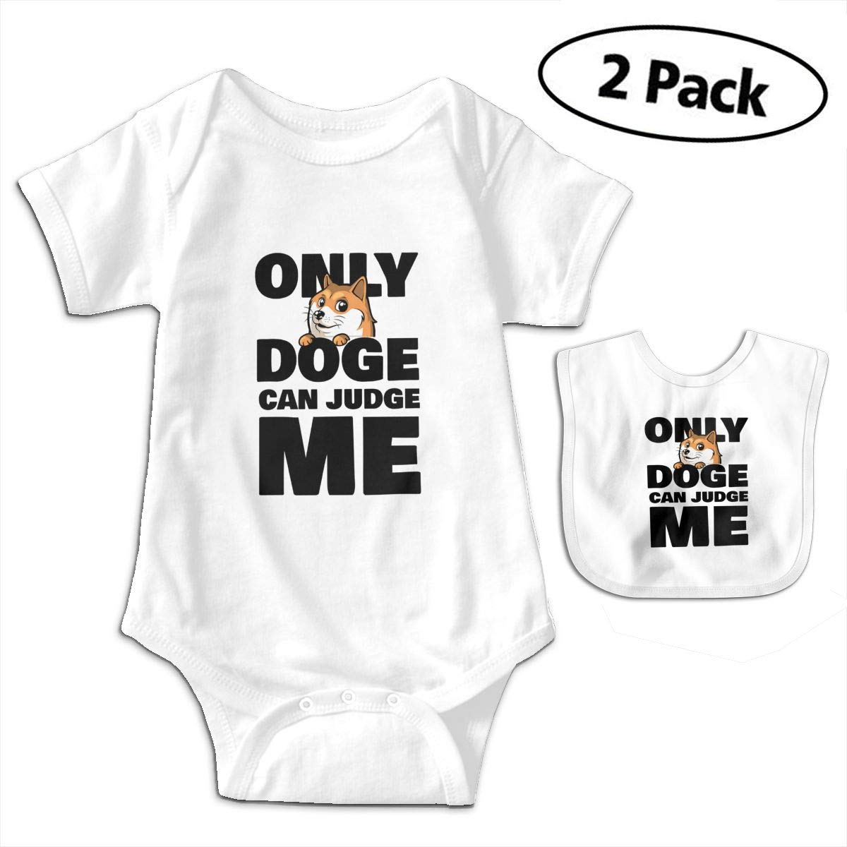 Harataki Shiba Inu Only Doge Can Judge Me Unisex-Baby Newborn Short-Sleeve Bodysuit Rompers