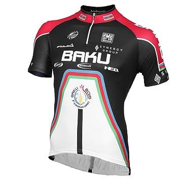 Santini Re942N145Ba Baku Cycling Project 15 Short Sleeve Jersey -  White Black 22df4994c