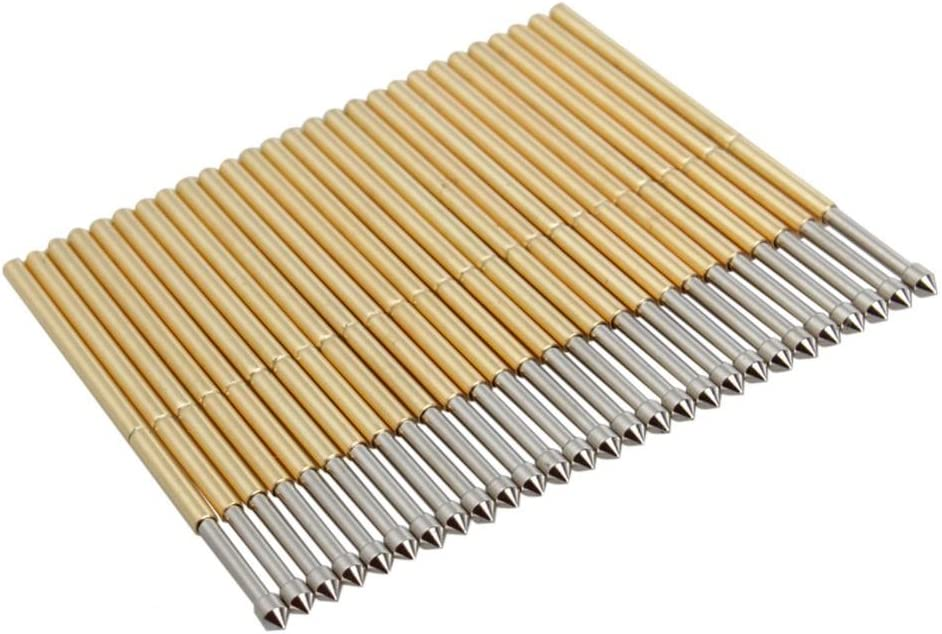 Keenso Conical Pogo Pin Test Tools Pogo Pins 100 Pcs 1.5mm P100-E2 Head Pogo Pin