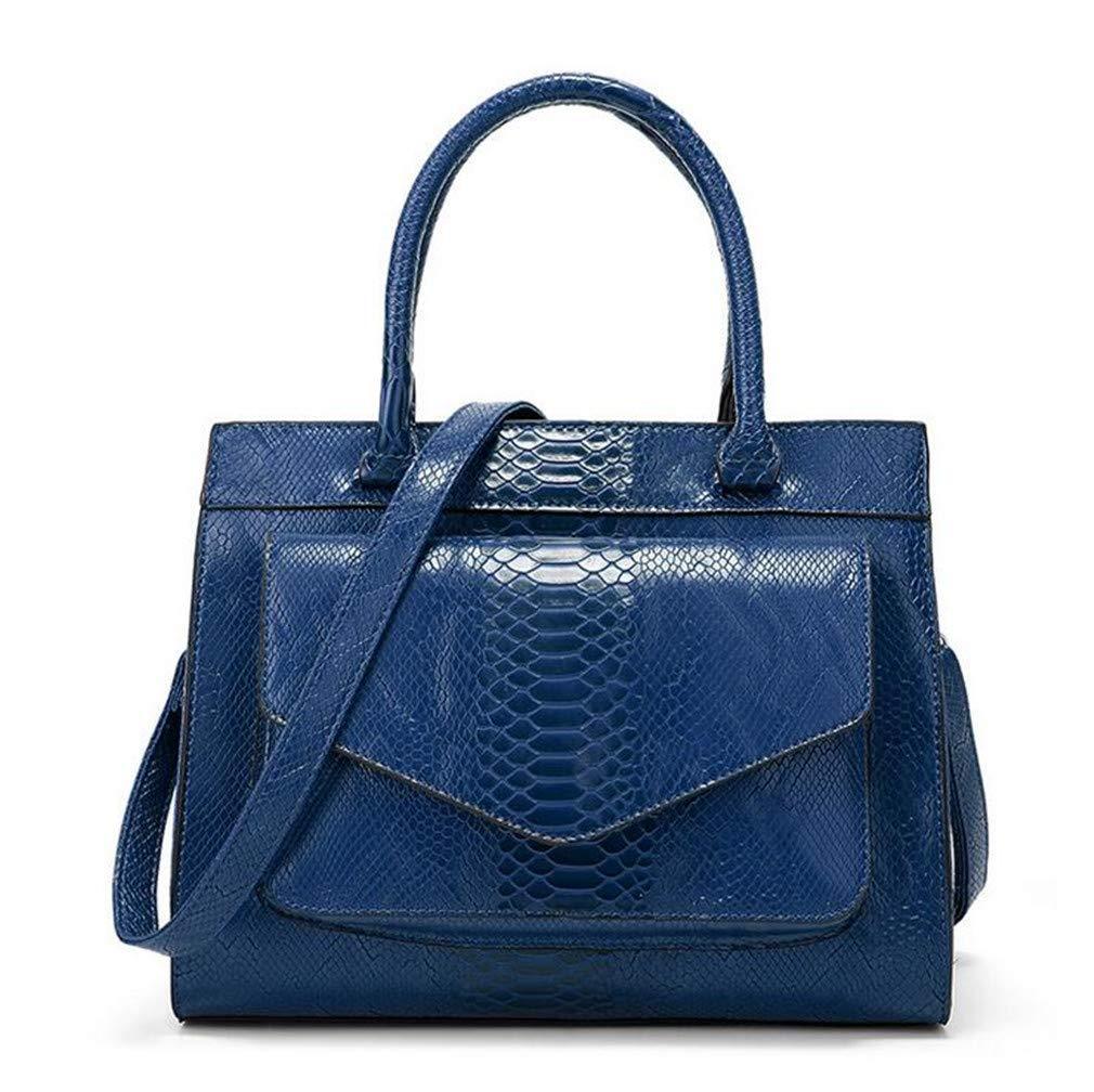 damen es Hand Bag Snakeskin Pattern Messenger Bag Bag Bag Zipper Large Capacity Fashion Joker Shoulder Bag B07PNPBBL5 Rucksackhandtaschen Die erste Reihe von umfassenden Spezifikationen für Kunden 429a79