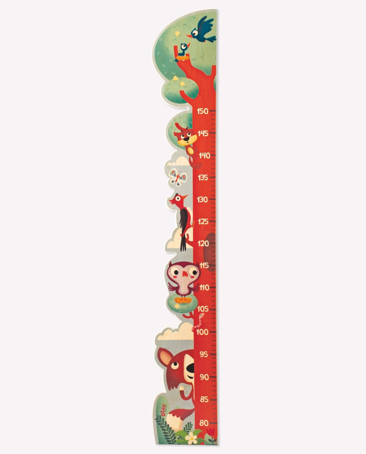 Dida - Wooden Growth Height Chart for Kids - Woodpecker in the Tree
