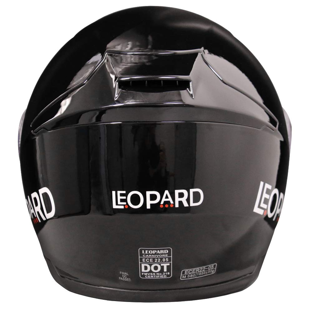 Leopard LEO-888 Double Visor Flip up Front Motorcycle Motorbike Helmet Road Legal Blue//Grey//Black XL 61-62cm