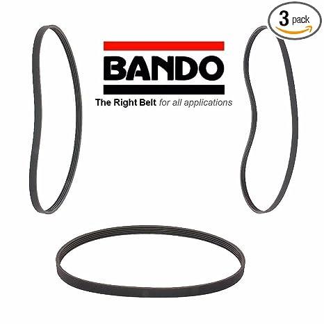 Amazon com: BANDO 3 Piece Serpentine Drive Belt Set Compatible With