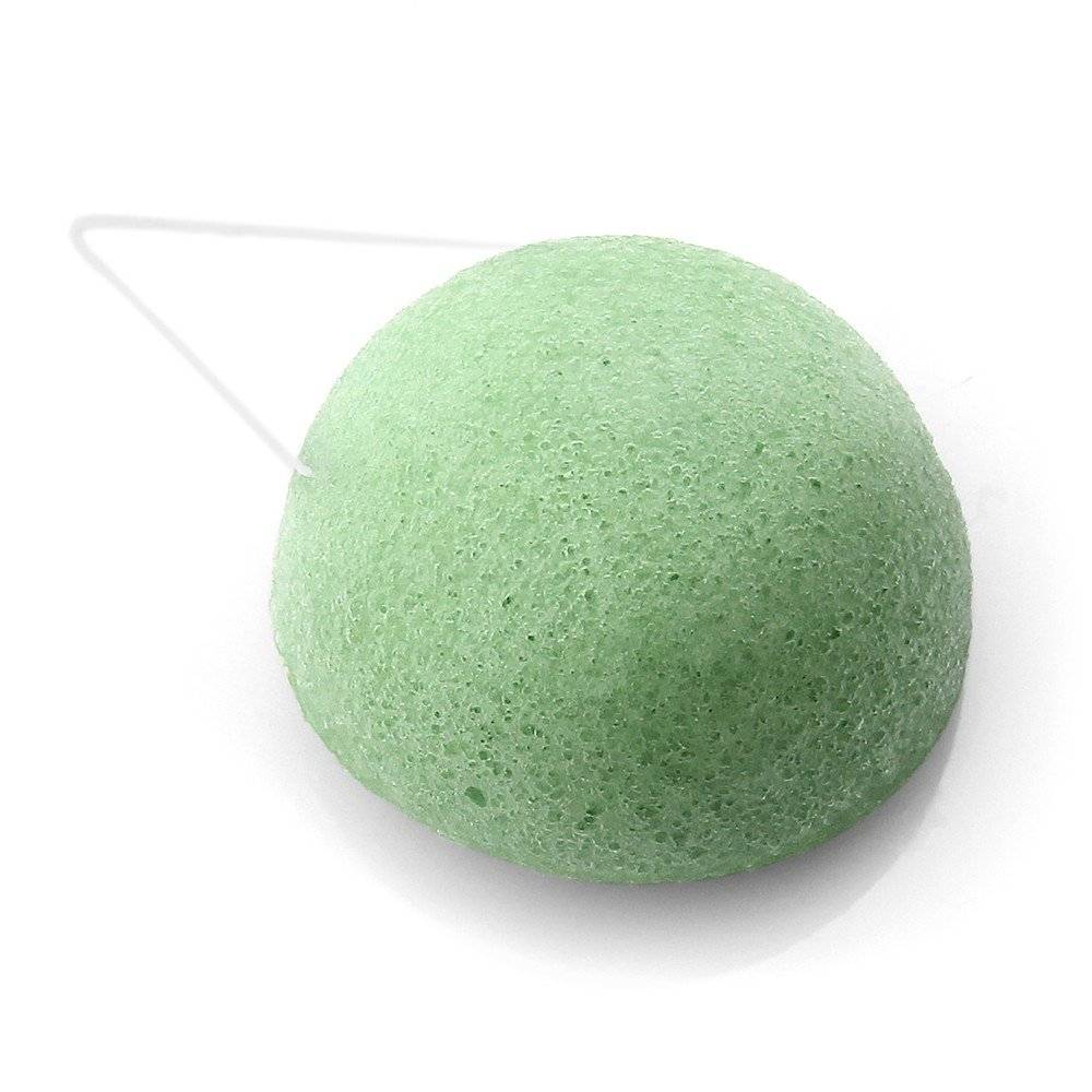Konjac Facial Sponge Exfoliating Face Wash Cleansing Tea Tree Oil soft Anti-ageing make up remover Japanese Beauty Acne Treatment Unparalleled Sponge' s